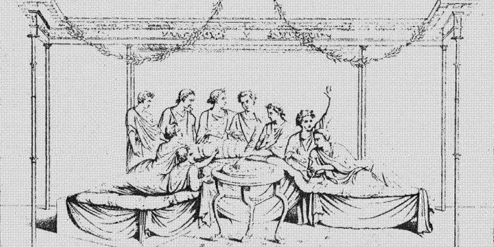 Il Triclinium La Sala Da Pranzo Nelle Case Degli Antichi